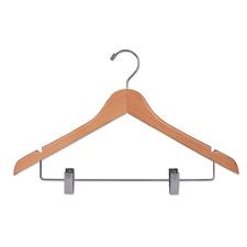 """17"""" Flat suit wood hanger"""