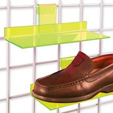 Acrylic shoe shelf yellow finish