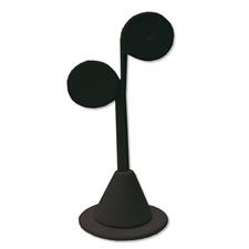 Black velvet earring display(set of 6)