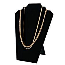 Black velvet padded necklace easel display
