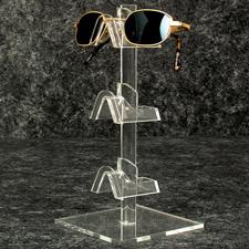 "3 Pair acrylic eyeglass display (9""H)"