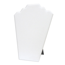 White faux leather easel display