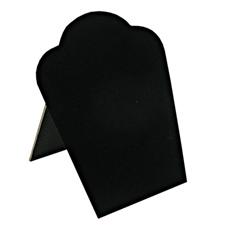 Black velvet necklace easel display