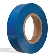 Blue plastic insert for slatwall