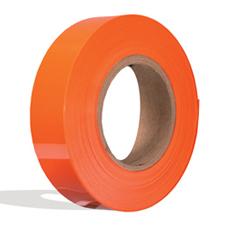 Orange plastic insert for slatwall