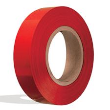 Red plastic insert for slatwall