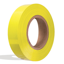Yellow plastic insert for slatwall