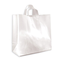 Medium clear frosted bag with loop handle