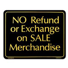NO Refund or Exchange on SALE Merchandise  Sign