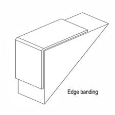 Edge banding for puck panels