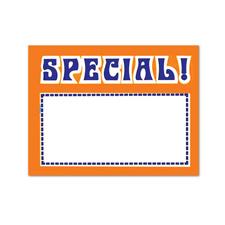Special sing card fluorescent orange/blue