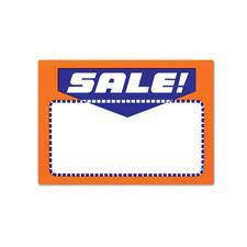 Sale sing card fluorescent orange/blue