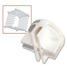 White plastic grid connector