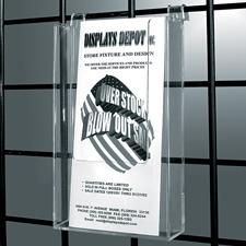 "Gridwall acrylic literature holder (4"" X 9"")"
