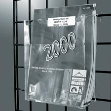 "Gridwall acrylic literature holder (8 1/2"" X 11"")"