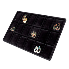 18 Compartment earring tray