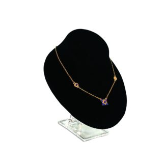 Black flocked necklace display