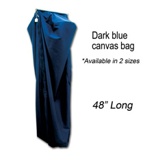 "48"" Long deluxe dark blue canvas bag"