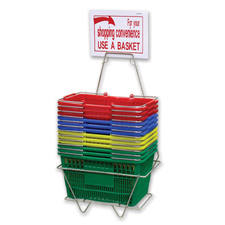 Multicolor shopping baskets