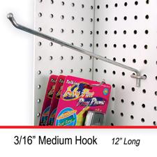 """12"""" 3/16"""" Medium hook"""