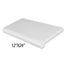 "Duron shelf (12""X 24"") gray finish"