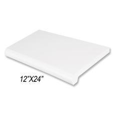 """Duron shelf (12""""X 24"""") white finish"""