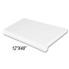 """Duron shelf (12""""X 48"""") white finish"""