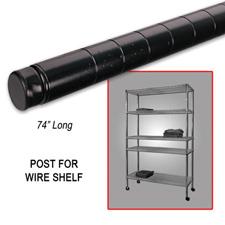 "74"" Post wire shelf black finish"