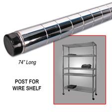 "74"" Post wire shelf chrome finish"