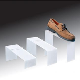 Frosted slanted shoe risers