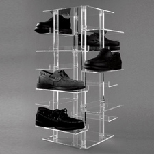 "27"" Acrylic shoe tower"