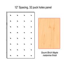 "12"" Spacing puck panel"