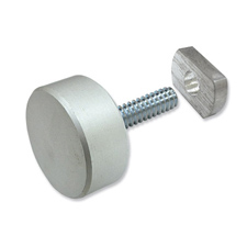 Anodized aluminum puck