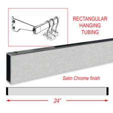 "24"" Rectangular tubing Satin chrome finish"