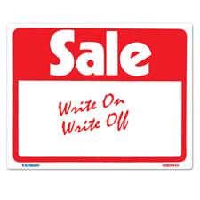 "Reusable ""Sale"" sign card (7"" X 11"")"