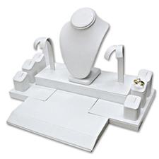 White faux leather mini-set