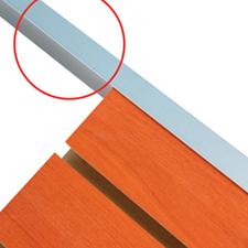 Aluminum edge cap