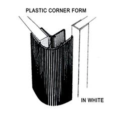 90 Degree white corner molding