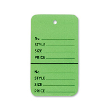 Light green perforated small coupon tag