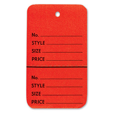 Red perforated large coupon tag