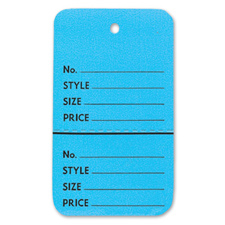 Light blue perforated large coupon tag