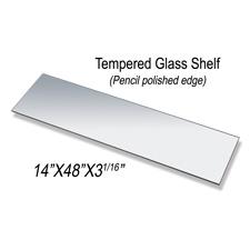 """Tempered glass shelf (14"""" X 48"""" X 3/16"""")"""