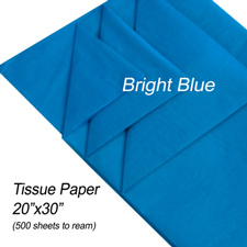 Bright blue tissue paper