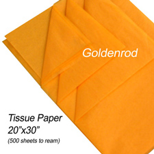 Goldenrod tissue paper