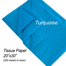 Turquoise tissue paper
