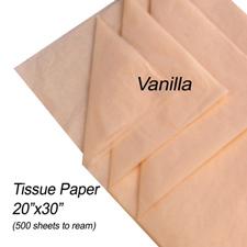Vanilla tissue paper