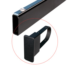 End cap for rectangular tubing black finish TX6B