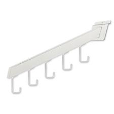 5-Hook waterfall rectangular tubing white finish