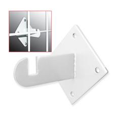 White gridwall mount bracket