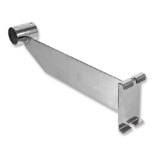 """12"""" Hangrail bracket chrome finish"""